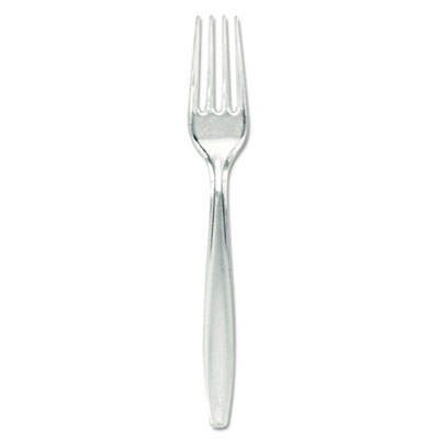 Plastic Cutlery, Forks, Heavyweight, Clear