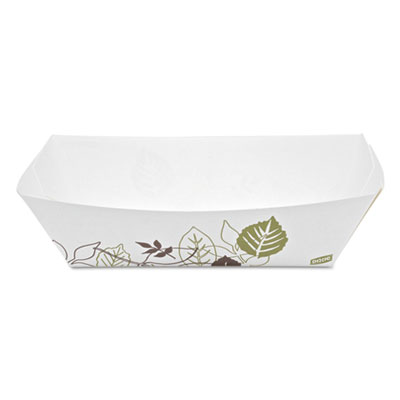 Kant Leek Polycoated Paper Food Tray, Pathways,9 3/8x6 1/8x2 1/8, 250/Pk,2Pk/Ctn
