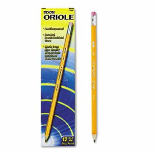 Oriole Woodcase Presharpened Pencil, HB #2, Yellow, Dozen
