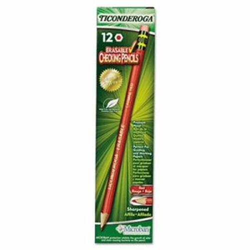 Ticonderoga Erasable Colored Pencils, 2.6 mm, CME Lead/Barrel, Dozen