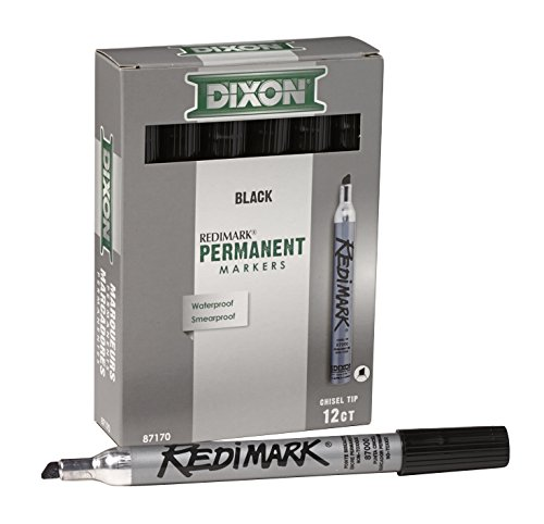 Dixon RediMark Heavy Duty Leak-Proof Marker, Black, Chisel, Xylene