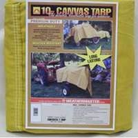 Weather Master CA1016D Tarpaulin, 10 ft W x 16 ft L, Canvas