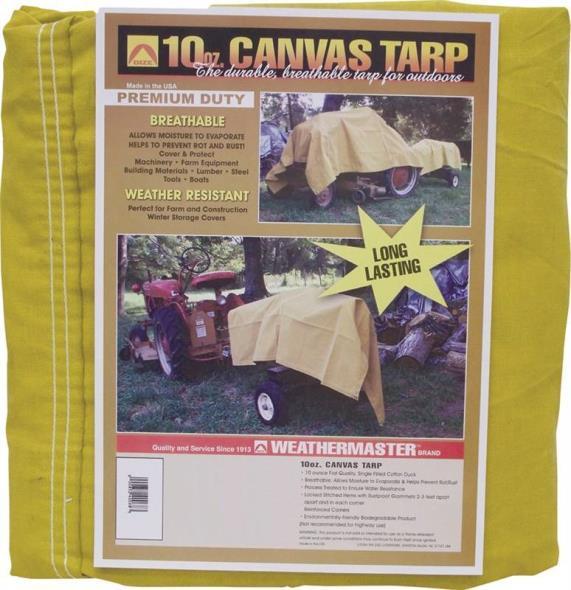 Weather Master CA1012D Tarpaulin, 10 ft W x 12 ft L, Canvas