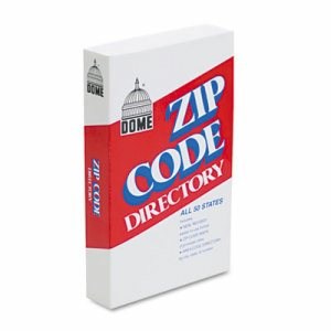 Zip Code Directory, Paperback, 750 Pages
