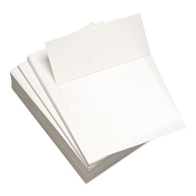 "Custom Cut-Sheet Copy Paper, 24 lb, 8.5x11, White, Perfed 3 2/3"" From Bottom,1RM"