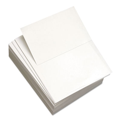 "Custom Cut-Sheet Copy Paper, 20 lb, 8 1/2 x 11, White, Perfed 5 1/2"", 1 RM"