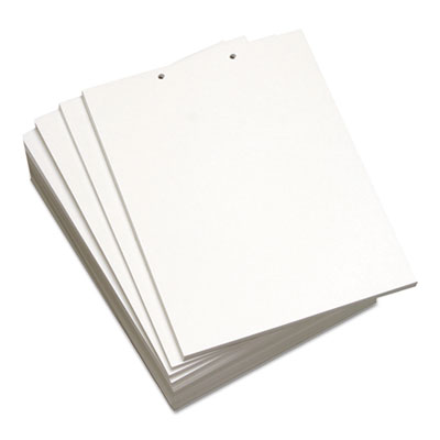 Custom Cut-Sheet Copy Paper, 92 Bright, 5-Hole, 20lb, 8 1/2 x 11, White, 500/RM