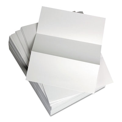 "Custom Cut-Sheet Copy Paper, 20 lb, 8 1/2 x 11, White, Perfed 3 2/3"", 1 RM"
