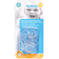 Safety 1St 1711 Cap Safety Outlet Cover With 7/8 in Nylon Ball Bearing Wheel, Plastic, Ultra Clear