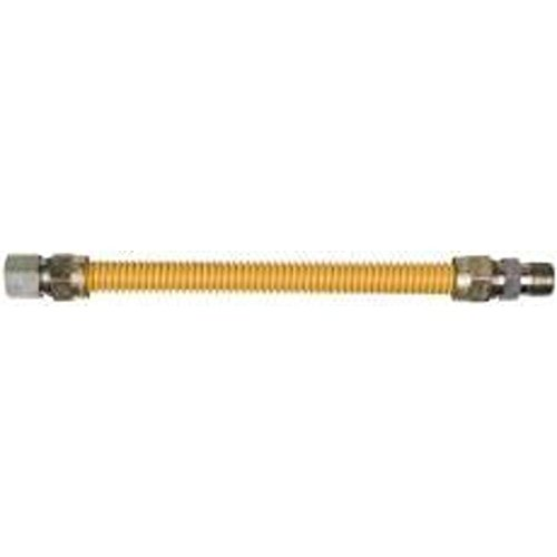 """GAS CONNECTOR COATED 5/8"""" STAINLESS STEEL 1/2"""" M X 1/2"""" F X 72"""""""