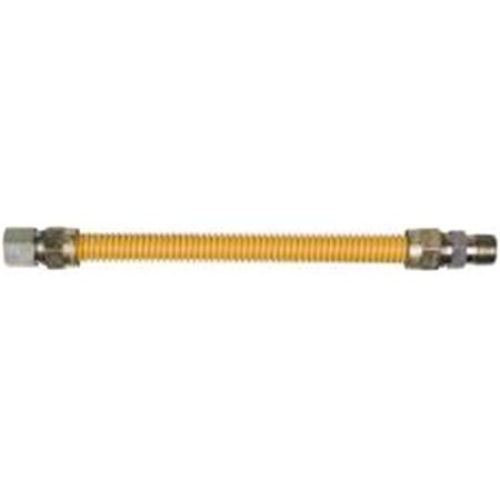 """GAS CONNECTOR COATED 5/8"""" STAINLESS STEEL 3/4"""" M X 3/4"""" F X 60"""""""