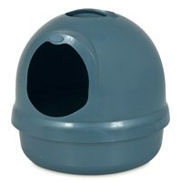 Booda Dome 22172 Covered Enclosed Cat Litter Box, Titanium/Iris