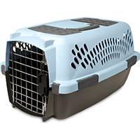 Pet Taxi 21087 Heavy Duty Pet Carrier, Small, 19 in L X 12.56 in W X 10 in H, Plastic