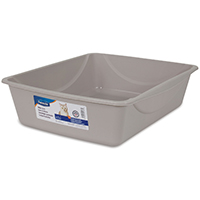 Petmate 22022 Cat Litter Pan With Microban Antimicrobial, Large, Assorted