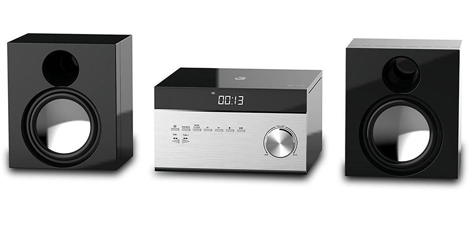 GPX Stereo Home Music System with CD Player & AM FM Tuner Remote Control