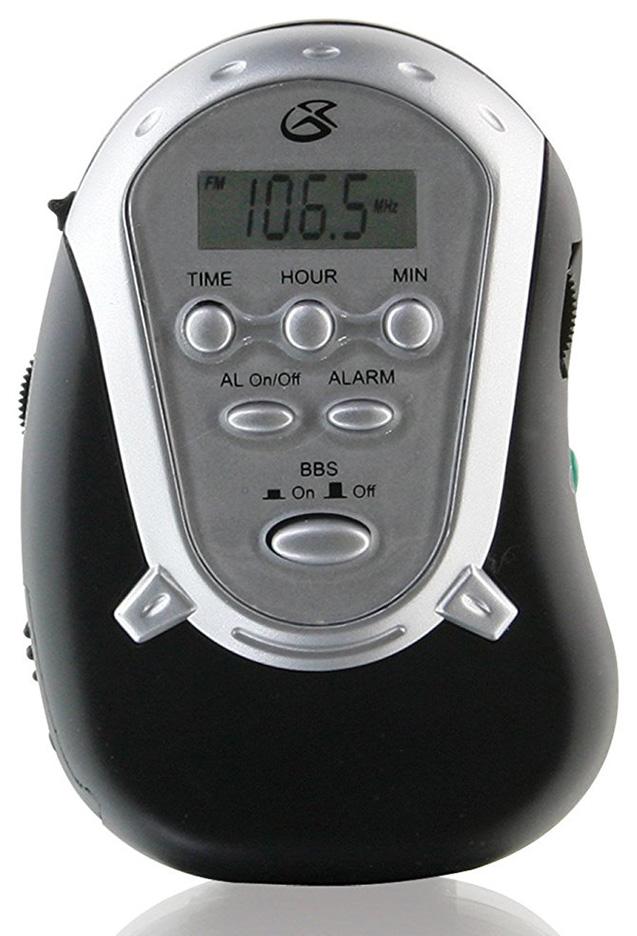 GPX R300B AMFM Armband Radio with Earbuds