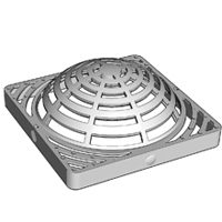 NDS 0903SDG Atrium Grate With UV Inhibitor, 9 in, Polyethylene, Green