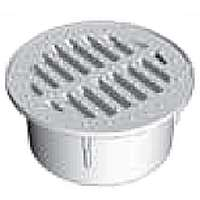 Draintech 0330SDB Round Drain Grate, Drop-In, 3.6 in Dia X 1.6 in H, For Use With 3 in Sewer and Drain Pipe, Black