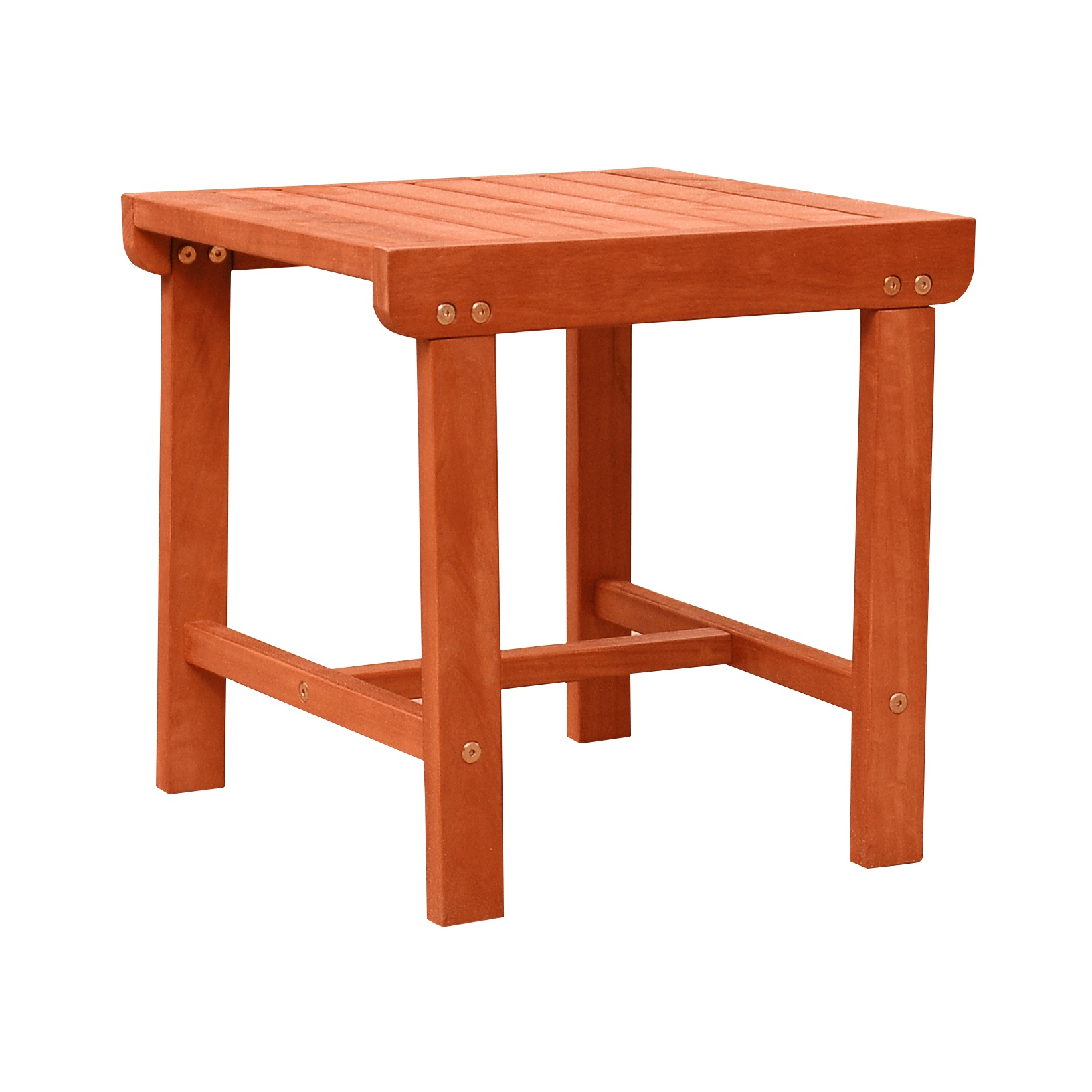 Malibu Outdoor Patio Wood Side Table