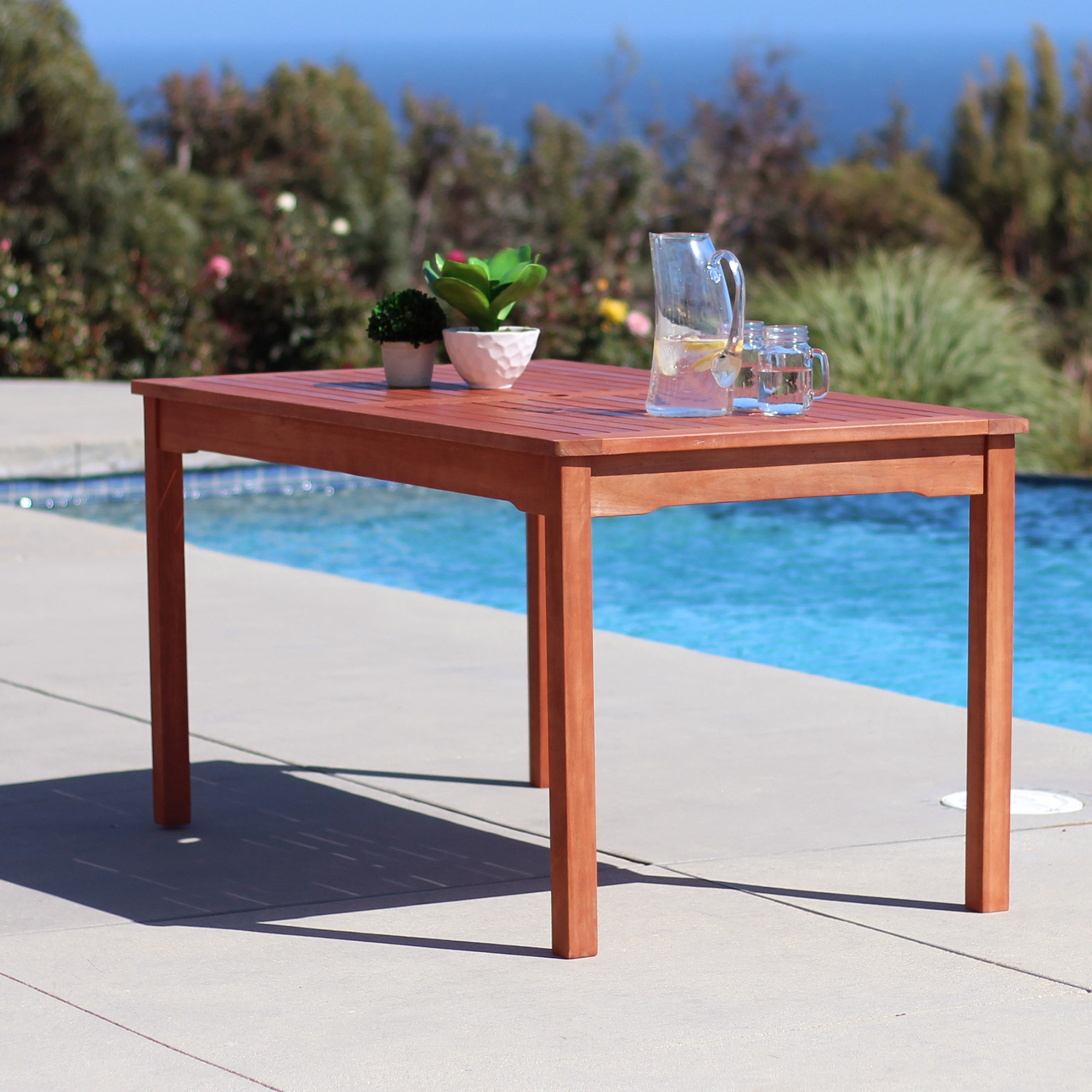 Malibu Outdoor Rectangular Patio Dining Table