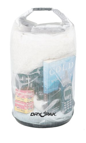 DRY PAK Roll Top Bag, 12.5 x 28, Clear