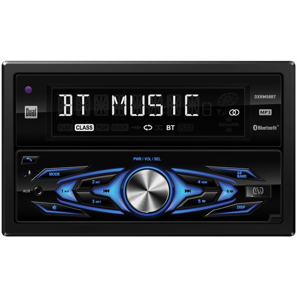 Dual DXRM58BT Double-DIN In-Dash Mechless AM/FM Receiver with Bluetooth
