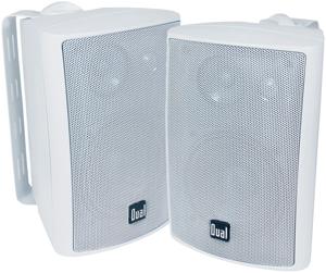 """DUAL LU43PW 4"""" 3-Way Indoor/Outdoor Speakers (White)"""