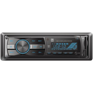 DUAL XR4115 Single-DIN In-Dash Mechless AM/FM Receiver
