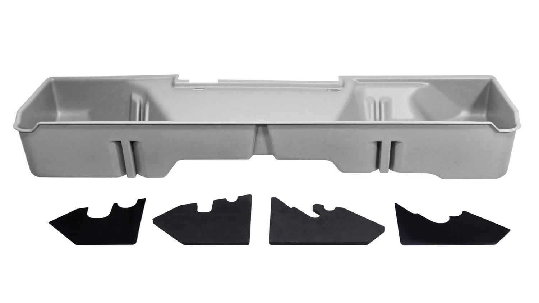 DU-HA Underseat Storage Gun Case 07-13 GMC & Chevy Light Gray