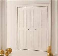 DUNBARTON THE CLASSIC METAL BI-FOLD DOOR, IVORY, 4 PANEL, 42X80 IN.