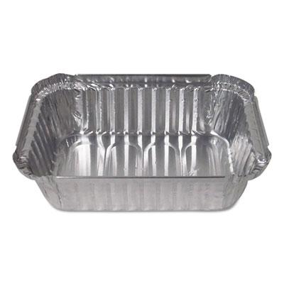 Aluminum Closeable Containers, 1.5 lb Deep Oblong, 500/Carton