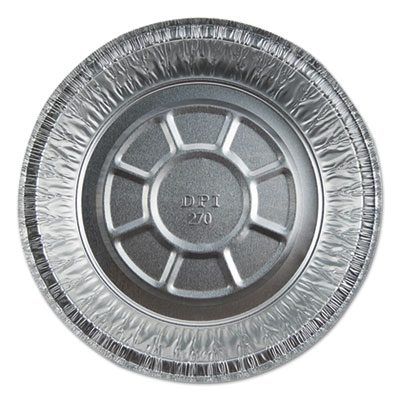 """Aluminum Round Containers with Board Lid, 7"""", 250/Carton"""