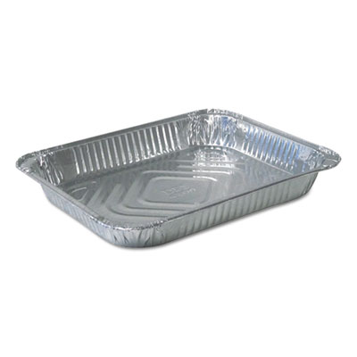 Aluminum Steam Table Pans, Half Size, Shallow, 100/Carton