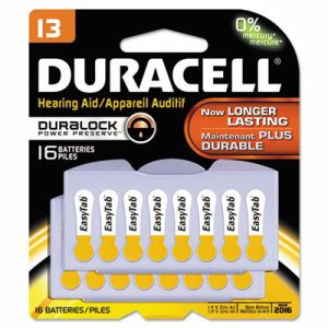 Button Cell Hearing Aid Battery #13, 16/Pk