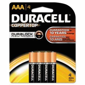 CopperTop Alkaline Batteries with Duralock Power Preserve Technology, AAA, 4/Pk