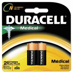 Coppertop Alkaline Medical Battery, N, 1.5V, 2/Pk