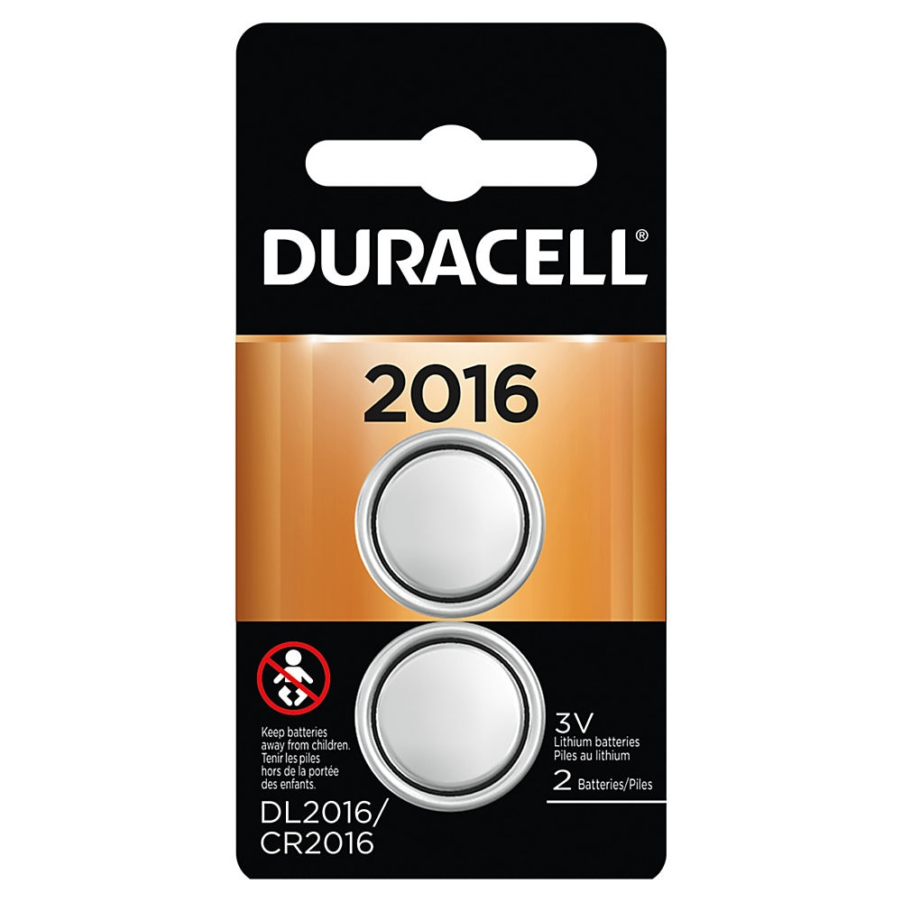 Lithium Coin Battery, 2016, 2/Pack
