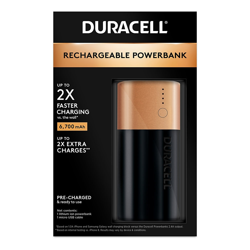 Rechargeable 6700 mAh Powerbank, 2 Day Portable Charger
