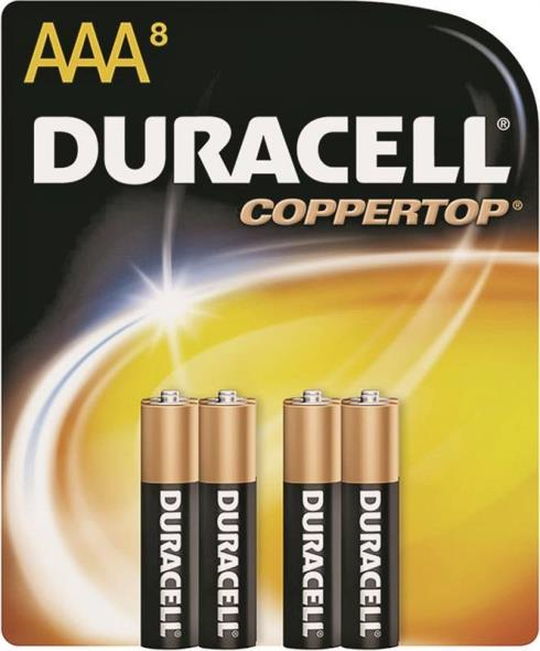 BATTERY ALKALINE CU TOP 8/AAA