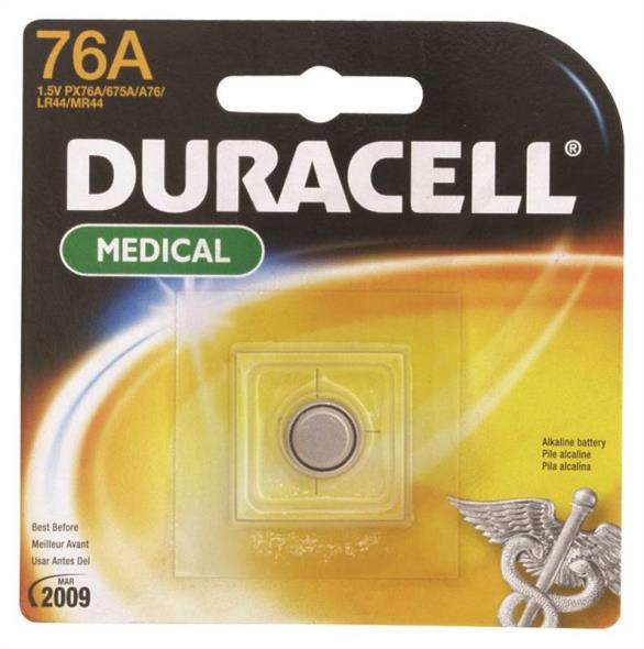 Duracell PX76A675PK Non-Rechargeable Cylindrical Alkaline Battery, 1.5 V, 76 A