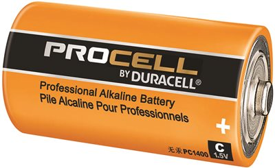 DURACELL PROCELL BATTERY C ALKALINE