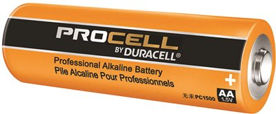 DURACELL PROCELL ALKALINE BATTERY AA 4 PACK