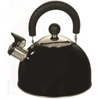 Euro-Ware 309-BK Whistle Tea Kettle, 2.5 qt, Stainless Steel