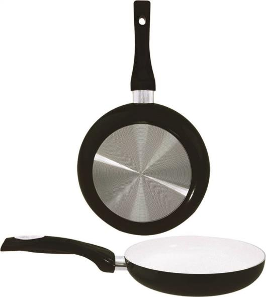 Dura Kleen 8124-BK Non-Stick Fry Pan With Handle, 9-1/2 in Dia, Aluminum, Black
