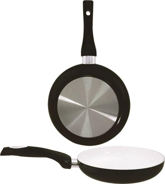 Dura Kleen 8128BK Non-Stick Fry Pan With Handle, 11-1/2 in Dia, Aluminum, Black