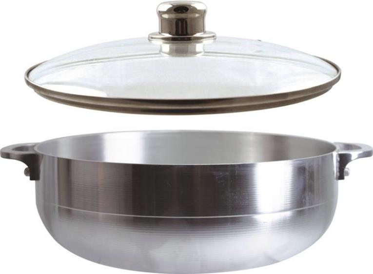 Dura Kleen 97302#9 Stock Pot With Lid, 6.7 qt Capacity, 13 in L x 24 in W x 13 in H, Aluminum