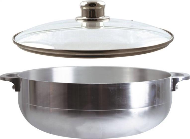Dura Kleen 97342#11 Stock Pot, 9.5 qt Capacity, 14 in L x 27 in W x 14 in H, Aluminum