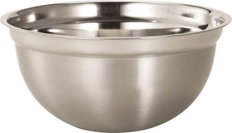 Dura Kleen 3203 Mixing Bowl, 3 qt Capacity, 10 in L x 14 in W x 10 in H, Stainless Steel
