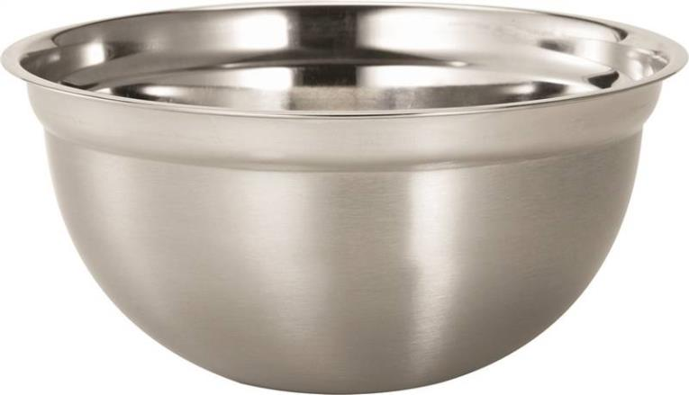 Dura Kleen 3205 Mixing Bowl, 5 qt Capacity, 11 in L x 16 in W x 11 in H, Stainless Steel