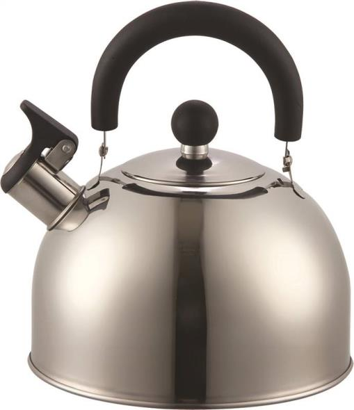 Dura Kleen 309-SS Whistling Tea Kettle, 2.5 qt Capacity, 13 in L x 16 in W x 16 in H, Stainless Steel